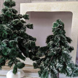 Dept 56 large green spruce tree set of two 52637 l